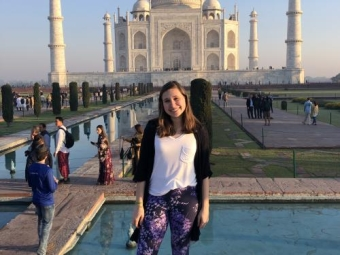 Erin at the Taj Mahal