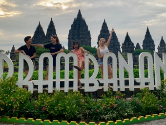 Jackie and friends in Indonesia