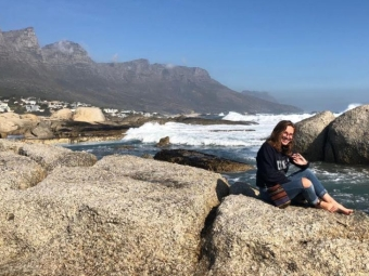 Image of summer at Camps Bay in South Africa