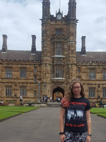 Claire Shoyer at the University of Sydney