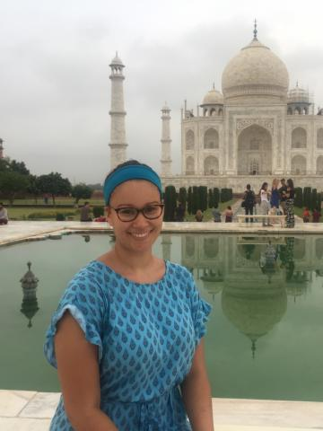 Makeda Barr-Brown abroad in India