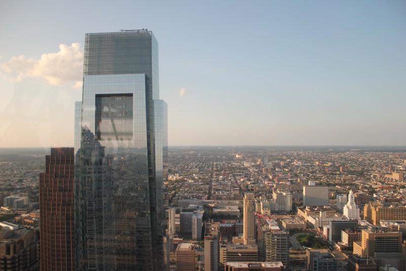 A view of Philadelphia and the Comcast Center