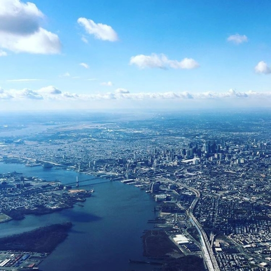 View of Philadelphia from an airplane
