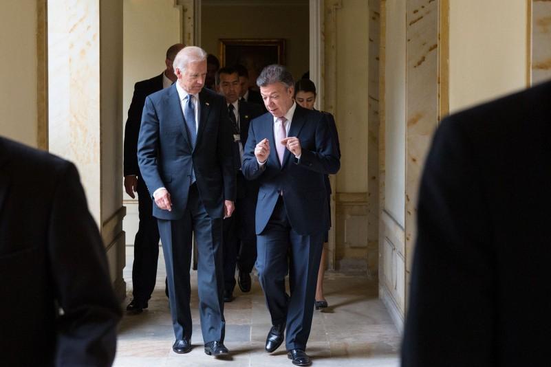 Joe Biden and Colombian President Santos