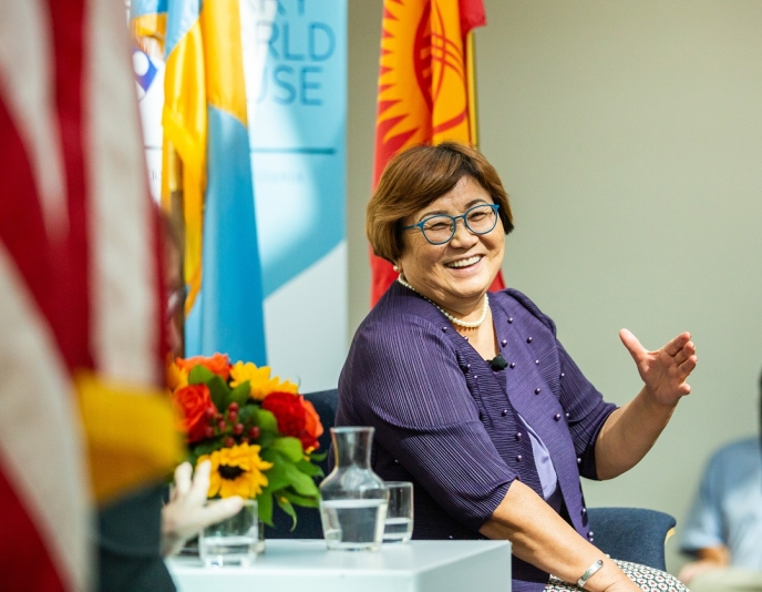 Roza Otunbayeva at the Fall 2019 Colloquium