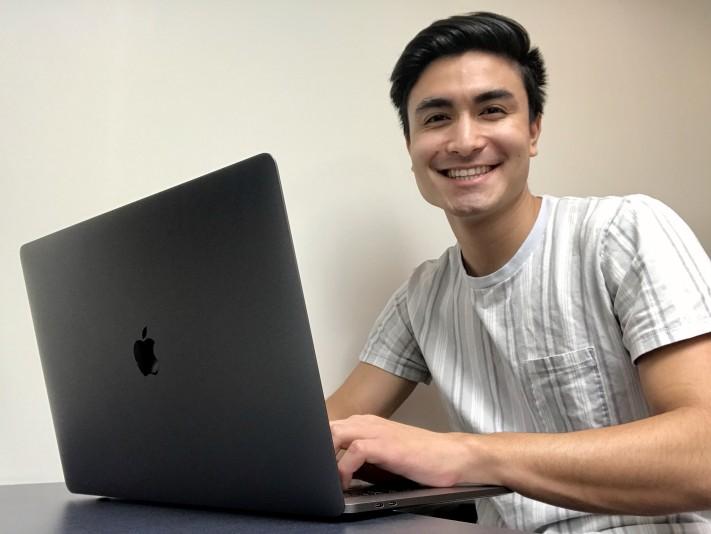 Student at his computer