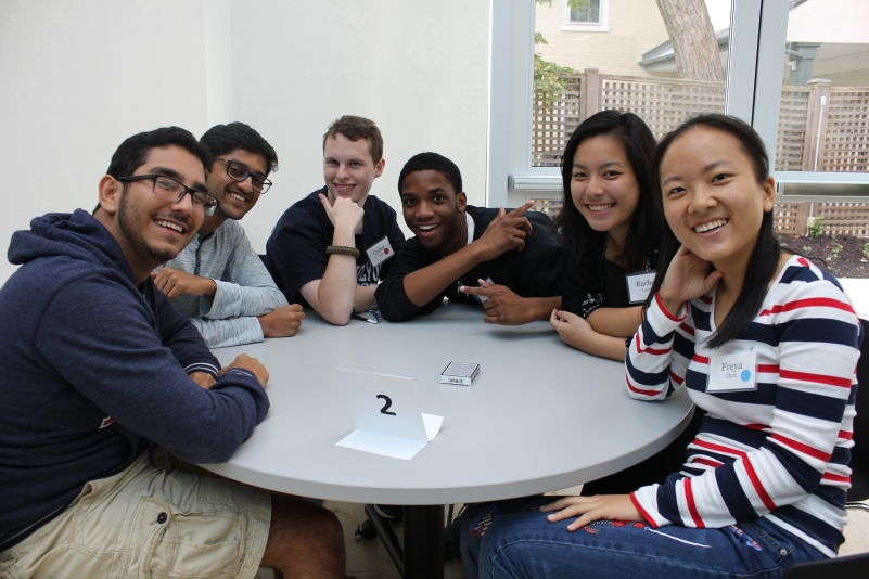 A group of students participating in an intercultural activity