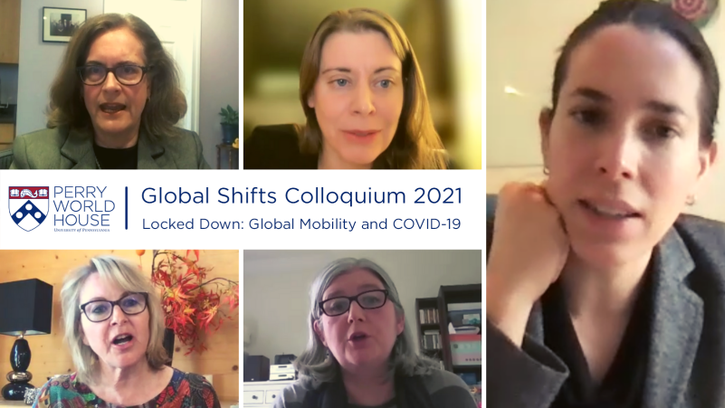 A collage of participants at the Global Shifts Colloquium