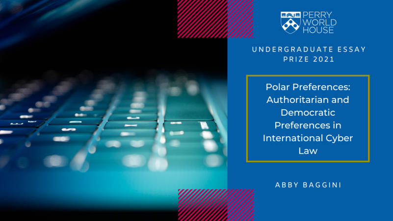 Graphic for the essay 'Polar Preferences: Authoritarian and Democratic Preferences in International Cyber Law'