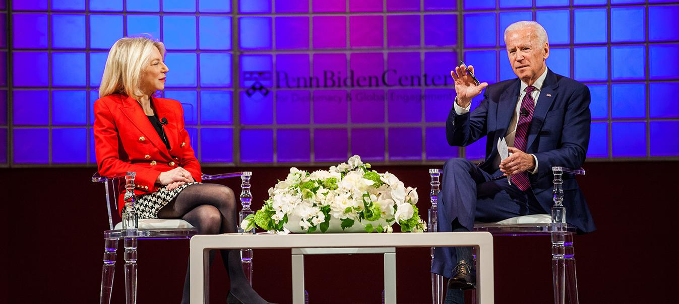 Vice President Biden and President Amy Gutmann at the University of Pennsylvania.