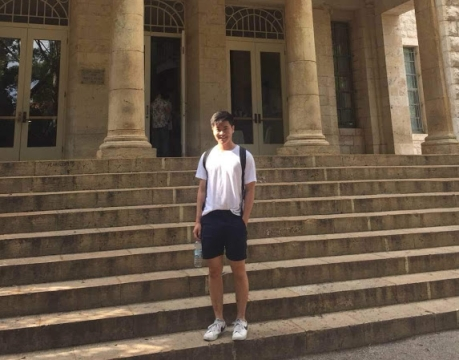 Aaron Chen arrives at AUB in Lebanon for a semester abroad